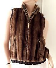 ST JOHN Faux Fur Winter Vest Jacket (Size US4) (retail £1,100)