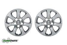 """2010-2013 Mazda 3 16"""" Silver Wheel Cover Cap Set of 2 OEM NEW BBM2-37-170"""