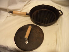 """kitchen prep 101 12"""" Cast Iron Skillet and Pres Cooking Fry Pan Kitchen Cookware"""