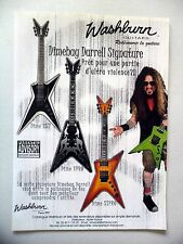 PUBLICITE-ADVERTISING :  Guitares WASHBURN  05/2004 Dimebag Darrell Signature