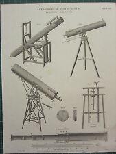 1817 fechado Antiguo impresión ~ astronómico instrumentos telescopios Brewsters Smeaton