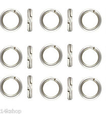 15 piece 6mm SOLID Sterling Silver .925 Split Ring Findings