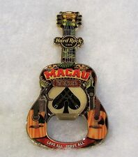 HARD ROCK CAFE MACAU CITY BOTTLE OPENER GUITAR MAGNET