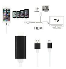8 pin 2M for iPhone 6 6S 5S 5 Apple to HDMI HDTV AV Cable Adaptor UK