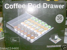 Mind Reader 36 K Cup Coffee Pod Storage Drawer Clear Counter Top NIB
