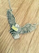 Harry Potter Hogwarts Acceptance Letter & Flying Hedwig Necklace Pendant Gift