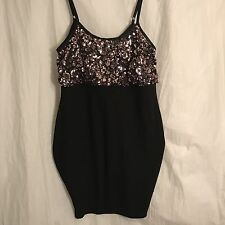 NWT Torrid Black Pink Sequin Bodycon Party Dress 1X Plus Size Cocktail Dance