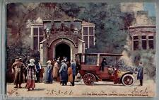 The King leaving Lismore for Motor Drive TUCK Oilette 9017 PC Postally used 1906