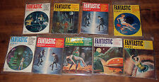 FANTASTIC STORY MAGAZINE (LOT OF 9 ) '53-'54 VINTAGE PULP SCI-FI MAGS *SEXY ART