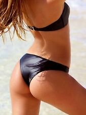 Nwt Victorias Secret Swim Luxe Neoprene Itsy Bikini Bottom Black M Sold Out!!