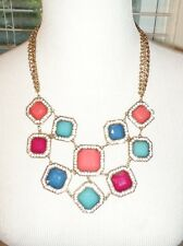 MULTI COLOR STATEMENT BIB NECKLACE NWT
