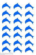 DOLPHIN SET STICKERS BLUE COOL WALL TILE KIDS CHILDREN BATHROOM VINYL TRANSFER