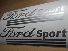 FORD SPORT  VINYL CAR STICKERS x2