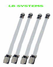 4PC SHEET GRIPPERS STRAPS FASTENERS HOLD GRIPS ELASTIC CHROME CLIPS GRIPPER NEW