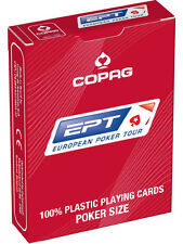 COPAG EPT EUROPEAN POKER TOUR OFFICIAL PLAYING CARDS 100% PLASTIC JUMBO INDEX UK