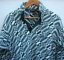 Vintage 1990's Patagonia Men's Aztec Tribal Snap-T Pullover Fleece Jacket S