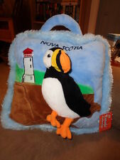 "Puffin Bird Nova Scotia Canada 3D Stuffed Plush 12"" Pillow Creature Comforts"