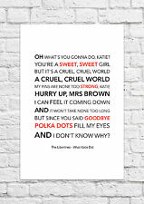 The Libertines - What Katie Did - Song Lyric Art Poster - A4 Size