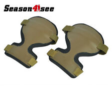1 Pair Military Airsoft ARC Style Combat Knee Protective Pad Gear Paintball DE