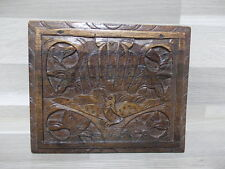 Old wood box - Juwelry of cigarettes ? - carving wood bird patern