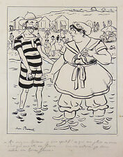 Jean PLUMET (1871-1939)Mâcon Saône et Loire  Dessin original humoristique signé