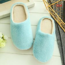 Women Men House Indoor Slippers Home Warm Cotton Velvet Shoes Sandals Anti-Slip