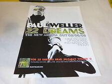 PAUL WELLER - Publicité de magazine / Advert 22 DREAMS  !!!!!!!