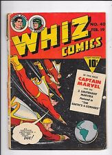 Whiz Comics #40 Captain Marvel Spy Smasher (1943)