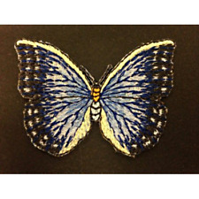 Large Blue Butterfly Insect Wings Flying Iron On Craft Motif Stylish Patch