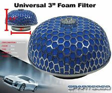 "3"" MUSHROOM STYLE HIGH FLOW INLET/INTAKE AIR FILTER BLUE MICROFOAM FOR ACURA"