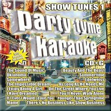 PARTY TYME KARAOKE ~ SHOW TUNES 1 ~ CD + G + BOOKLET BRAND NEW
