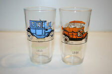 Vintage 1910 Buick 1911 Oakland 1913 Chevrolet & 1908 Ford Old Cars Glasses Lot