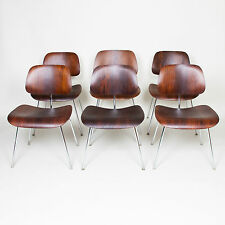 Eames Herman Miller Rosewood DCM's Dining Chairs Original Set Of Six Mid Century