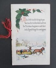 1924 CHRISTMAS CARD from Chester, NY Teacher to Student with Holiday Poems etc.