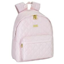 Moos Premium Pink Quilted Deluxe Ladies Backpack Rucksack Travel Work School Bag