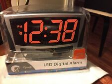 Equity EXTRA-LARGE LED Display Alarm Clock With Battery Backup