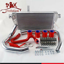 Red Intercooler+Aluminum Pipe/piping Kit for 96-01 VW PASSAT AUDI A4 B5 1.8T