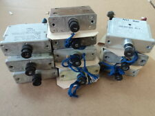 LOT OF 10 USED CIRCUIT BREAKERS 5, 7, 7 1/2, & 15 AMPS - MULT. APPLICATIONS