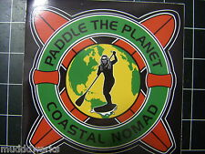 Coastal Nomad Rasta color Paddle the Planet sticker Stand up Paddle boards SUP