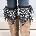 New Girl Crochet Knitted Lace Trim Boot Cuffs Toppers Leg Warmers Winter Socks
