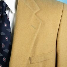 British Guard Men's 46 XL 100% Camel Hair Blazer Sport Coat ICONIC Jacket NICE