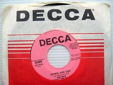 BAG down & out up in the morning PINK LABEL PROMO 1968 Garage Fuzz Psych 45 w266