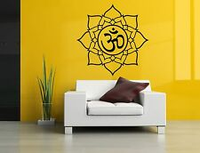 Wall Room Decor Art Vinyl Sticker Mural Decal Om Symbol Mandala Ornament SA176