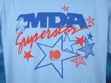 NOS vintage 80s JERRY LEWIS MDA TELETHON WHEC-TV BUTTERY SOFT T-Shirt LARGE thin
