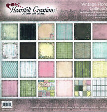 Vintage Floret Paper Collection Heartfelt Creations - 24 x double sided 12 x 12