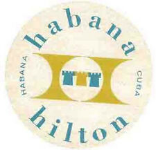 CUBA   Havana Hilton  Vintage-1950's Style Travel Decal