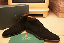 Crockett & Jones Tetbury Black Suede Chukka Boots Shoes UK 13