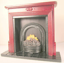 Dollhouse Furniture Fireplace Miniature Fireplace Bookcase Mahogany Fireplace