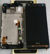 LCD Touchscreen Display Digitizer Komplett Glas Rahmen Schwarz HTC ONE Mini 601n