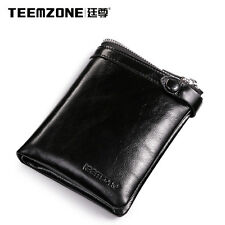 Men Wax Leather Western Wallet Business Clutch Credit Card Billfold Checkbook